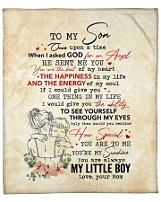 "Once Upon A Time When I Asked God-Mom To Son Fleece Blanket - 50"" x 60"" front"