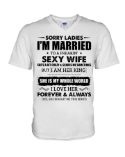 Sorry Ladies I'm Married to a Freakin' sexy wife V-Neck T-Shirt thumbnail