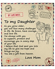 """You'll Face Many Challenges - Mom To Daughter Fleece Blanket - 50"""" x 60"""" front"""