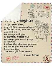"""You'll Face Many Challenges - Mom To Daughter Sherpa Fleece Blanket - 50"""" x 60"""" thumbnail"""