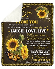 Never Forget That I Love You -Sunflower Mom To Son Sherpa Fleece Blanket tile
