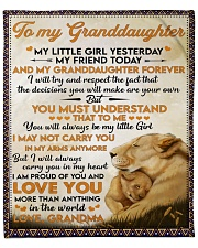 """Little GD Yesterday Friend Today To Granddaughter Fleece Blanket - 50"""" x 60"""" front"""