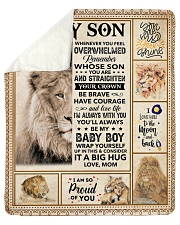 Lion - Im So Proud Of You -  Mom-To-Son Sherpa Fleece Blanket tile