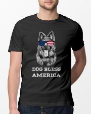 Dog Bless America Classic T-Shirt lifestyle-mens-crewneck-front-13