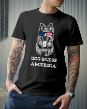 Dog Bless America Classic T-Shirt lifestyle-mens-crewneck-front-6