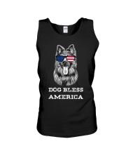 Dog Bless America Unisex Tank thumbnail