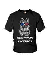 Dog Bless America Youth T-Shirt thumbnail