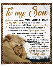 """Never Feel That U Are Alone Lion Mom To Son Fleece Blanket - 50"""" x 60"""" front"""
