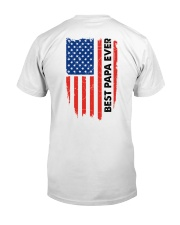 Best Papa Ever Classic T-Shirt back