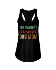 The World's Greatest Dog Mom Ladies Flowy Tank thumbnail