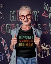 The World's Greatest Dog Mom Ladies T-Shirt lifestyle-holiday-crewneck-front-3
