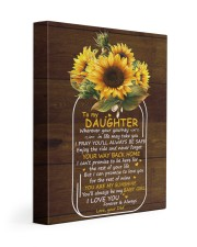 You Are My Sunshine Dad To Daughter 11x14 Gallery Wrapped Canvas Prints front