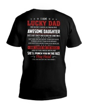I Am A Lucky Dad Have A Freaking Awesome Daughter V-Neck T-Shirt thumbnail