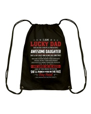I Am A Lucky Dad Have A Freaking Awesome Daughter Drawstring Bag thumbnail