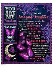 """I Want U To Remember U Are Loved Mom To Daughter Fleece Blanket - 50"""" x 60"""" front"""