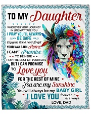 "You Are My Sunshine Dad To Daughter Fleece Blanket - 50"" x 60"" front"