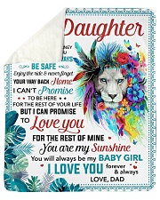 "You Are My Sunshine Dad To Daughter Sherpa Fleece Blanket - 50"" x 60"" thumbnail"