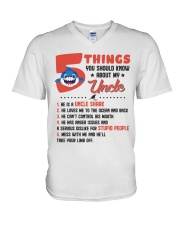 5 Things You Should Know About My Uncle V-Neck T-Shirt thumbnail