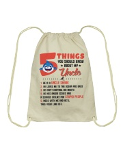 5 Things You Should Know About My Uncle Drawstring Bag thumbnail
