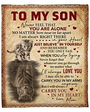 """Never Feel That U Are Alone Mom To Son Fleece Blanket - 50"""" x 60"""" front"""