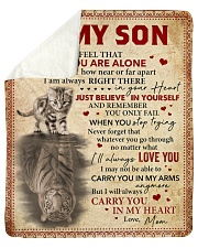 """Never Feel That U Are Alone Mom To Son Sherpa Fleece Blanket - 50"""" x 60"""" thumbnail"""