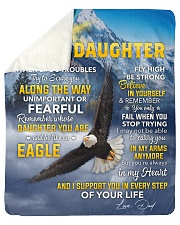 I Support U In Every Step Eagle Dad To Daughter Sherpa Fleece Blanket tile