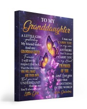 Butterfly-Im Proud Of You Grandma-To-Granddaughter 16x20 Gallery Wrapped Canvas Prints front
