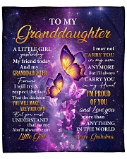 "Butterfly-Im Proud Of You Grandma-To-Granddaughter Fleece Blanket - 50"" x 60"" thumbnail"