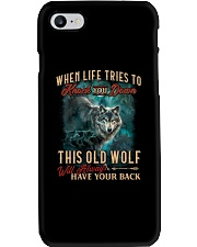 Old Wolf Will Always Have Your Back Phone Case thumbnail
