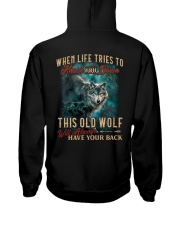 Old Wolf Will Always Have Your Back Hooded Sweatshirt thumbnail