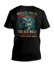 Old Wolf Will Always Have Your Back V-Neck T-Shirt thumbnail