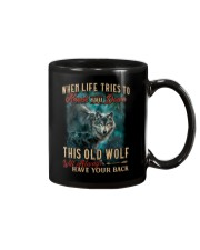 Old Wolf Will Always Have Your Back Mug thumbnail