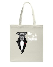 The DogFather Pitbull Tote Bag thumbnail