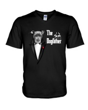 The DogFather Pitbull V-Neck T-Shirt thumbnail