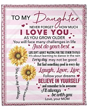 "Never Forget How Much I Love U Mom To Daughter Fleece Blanket - 50"" x 60"" front"