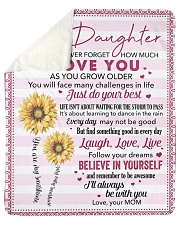 "Never Forget How Much I Love U Mom To Daughter Sherpa Fleece Blanket - 50"" x 60"" thumbnail"