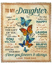 """Live Gave Me The Gift Of You Dad To Daughter Fleece Blanket - 50"""" x 60"""" front"""