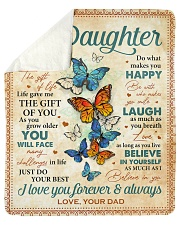 """Live Gave Me The Gift Of You Dad To Daughter Sherpa Fleece Blanket - 50"""" x 60"""" thumbnail"""