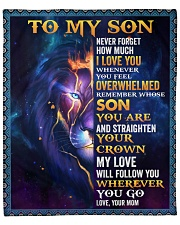 """Never Forget How Much I Love U Lion Mom To Son Fleece Blanket - 50"""" x 60"""" front"""