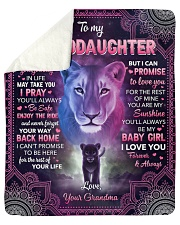 """Whenever Your Journey In Life Lion GM To GD Sherpa Fleece Blanket - 50"""" x 60"""" thumbnail"""