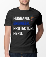 Husband Engineer Protector Hero Classic T-Shirt lifestyle-mens-crewneck-front-13