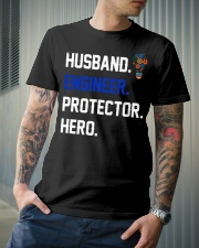 Husband Engineer Protector Hero Classic T-Shirt lifestyle-mens-crewneck-front-6