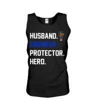 Husband Engineer Protector Hero Unisex Tank tile