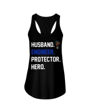 Husband Engineer Protector Hero Ladies Flowy Tank thumbnail