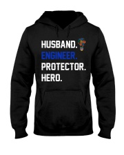 Husband Engineer Protector Hero Hooded Sweatshirt tile