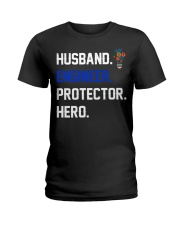 Husband Engineer Protector Hero Ladies T-Shirt thumbnail