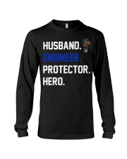 Husband Engineer Protector Hero Long Sleeve Tee tile