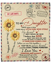 """Daughter Keep Me In Heart I'll Stay There Forever Fleece Blanket - 50"""" x 60"""" front"""