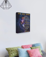 Never Forget That I Love You Lion Dad To Son 11x14 Gallery Wrapped Canvas Prints aos-canvas-pgw-11x14-lifestyle-front-02