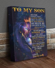 Never Forget That I Love You Lion Dad To Son 11x14 Gallery Wrapped Canvas Prints aos-canvas-pgw-11x14-lifestyle-front-10